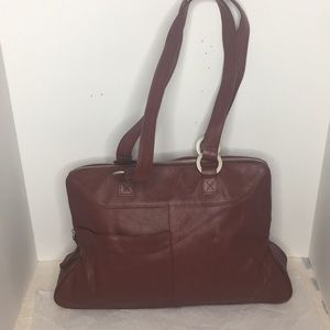 Deep Red LATICO tote bag